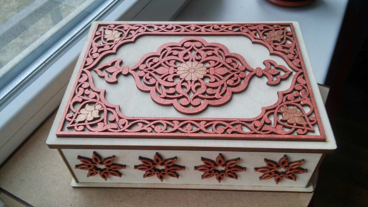Laser Cut Decorative Jewelry Box Free Vector cdr Download - 3axis co