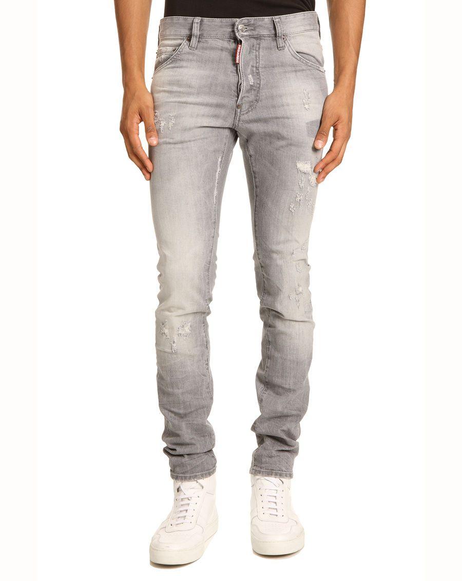 Jean Cool Guy Griffé Gris Délavé DSQUARED - Jeans Homme Menlook -  Bon-Shopping.com