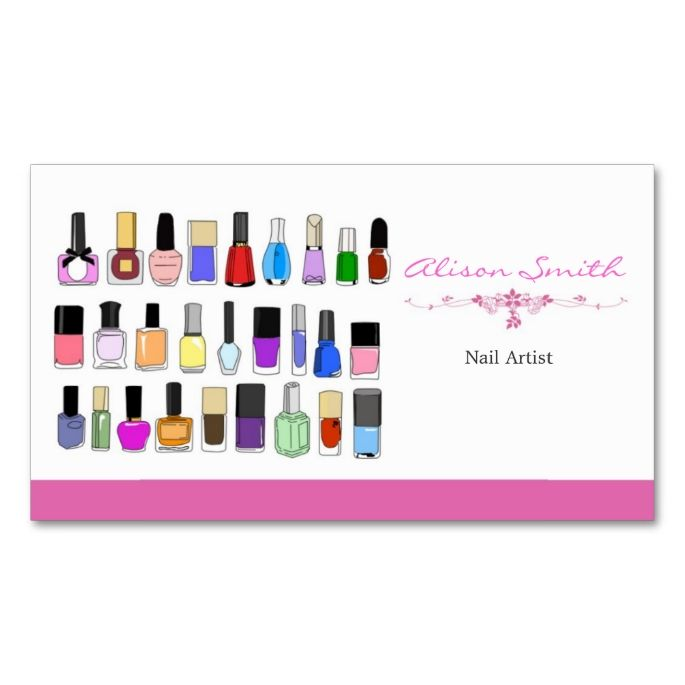 Nail artist business card business cards template and business nail artist business card colourmoves