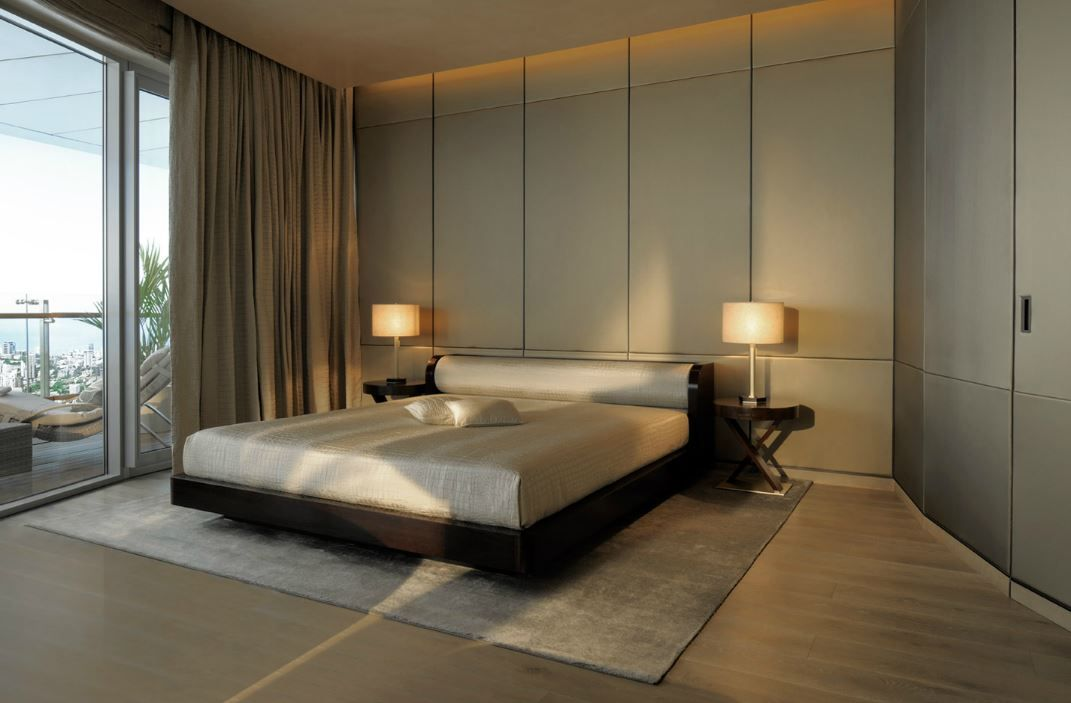 Armani/Casa interiors at the World Towers Guest bedroom