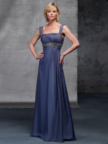 Refined Straps Empire Waist Chiffon Mother Dress | Mothers Dress ...