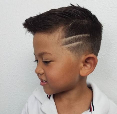 Side Swept Hair With Surgical Lines Boy Haircuts In 2019 Hair