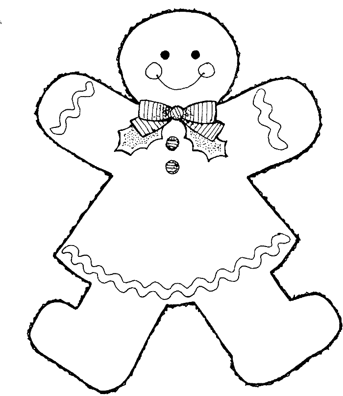 Style Gingerbread Boy Coloring Pages Gingerbread
