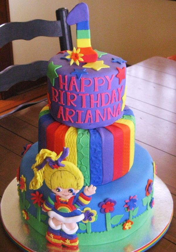 Surprising Rainbow Brite Cake Omg Is It My Birthday Yet Queques Birthday Cards Printable Nowaargucafe Filternl