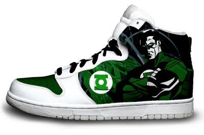 GREEN LANTERN! I really want these! | Nerd shoes, Custom ...