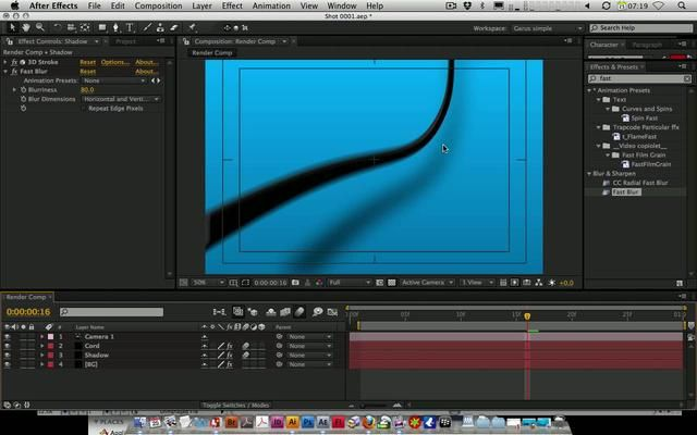after effects 3d stroke