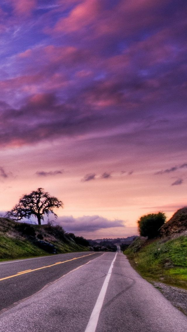 Sunset Road Landscape Iphone 5s Wallpaper Sunset Road Landscape Iphone 5s Wallpaper