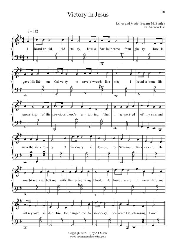 Victory In Jesus with Lyrics - YouTube