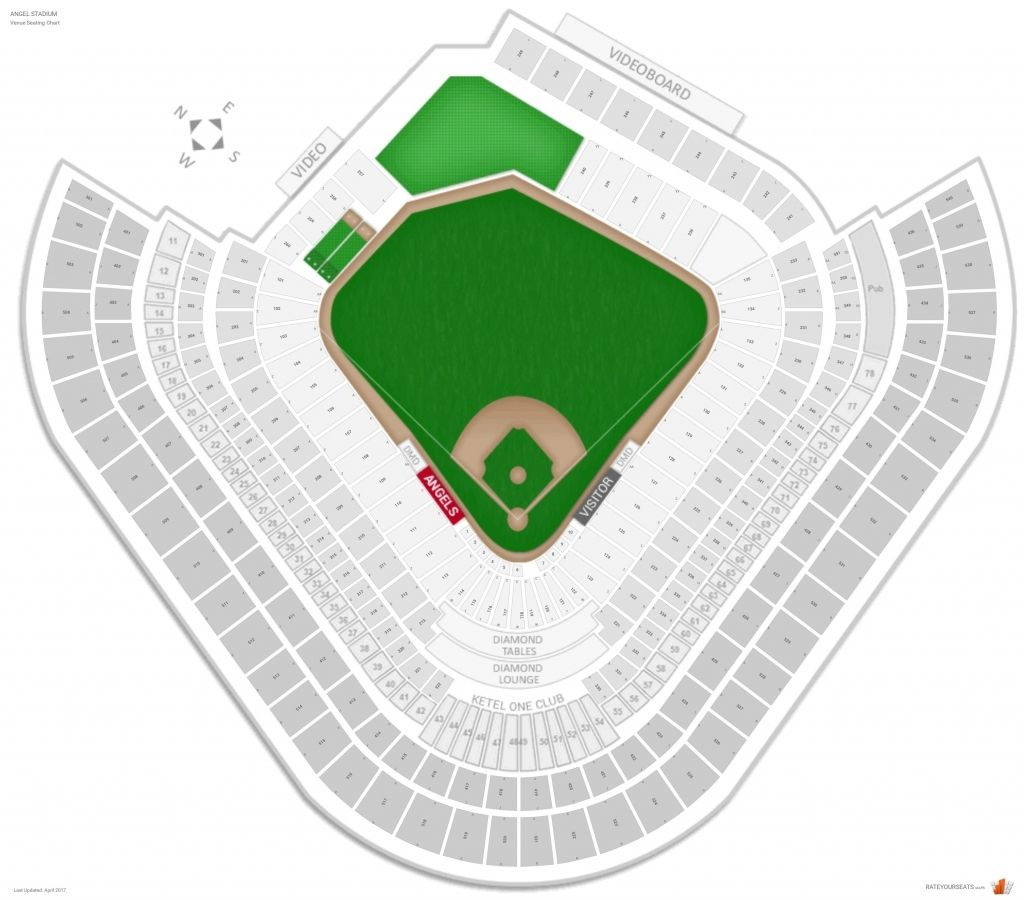 The Most Awesome Angel Stadium Seating Chart With Seat Numbers Angel Stadium Dodger Stadium Seating Chart Seating Charts