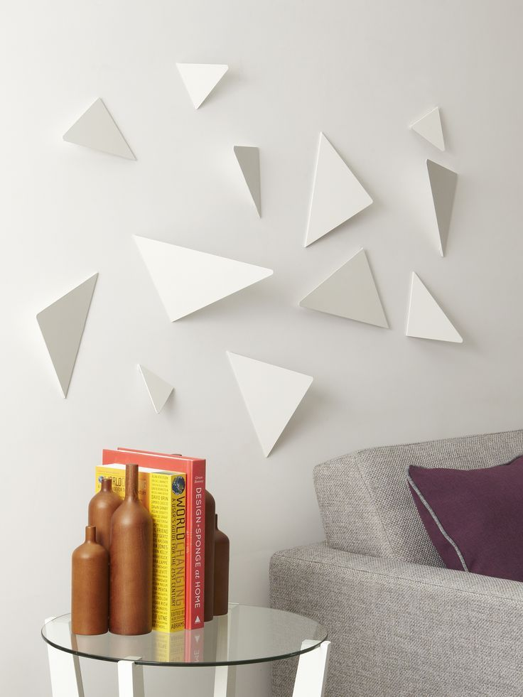 Umbra Facetta Wall Decor, White, Set Of 12