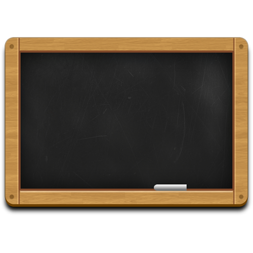 Wooden black chalkboard icon (PSD Black chalkboard