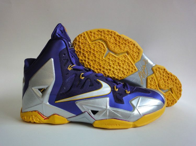 9dc04562a62f Nike Cheap LeBron 11 Laker Purple Metallic Gold Platinum