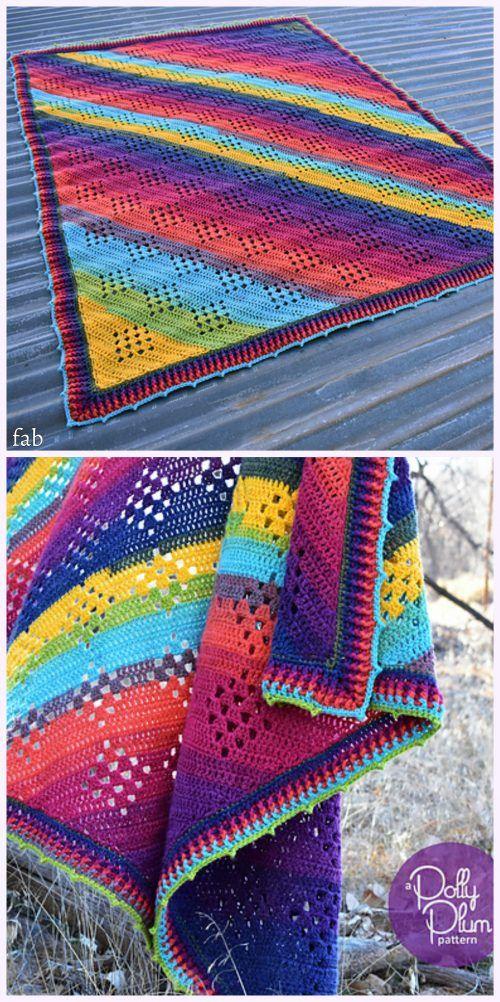 Crochet Granny in the Sky with Diamonds Blanket Pattern   Crochet ...