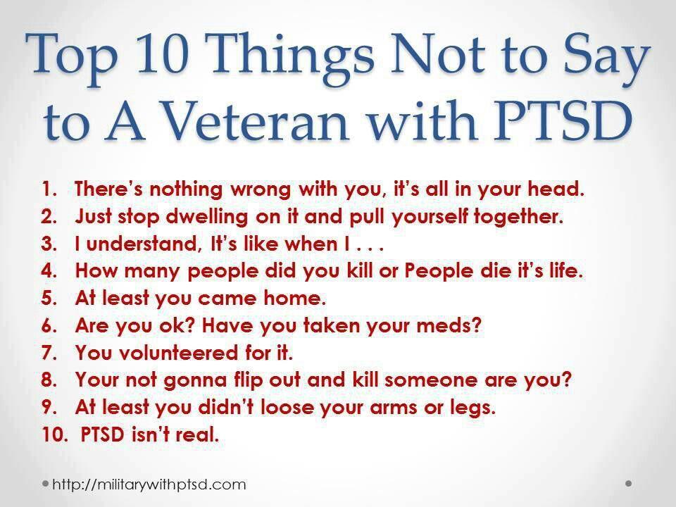 PTSD: A Soldiers Perspective: Combat Vet Girlfriend