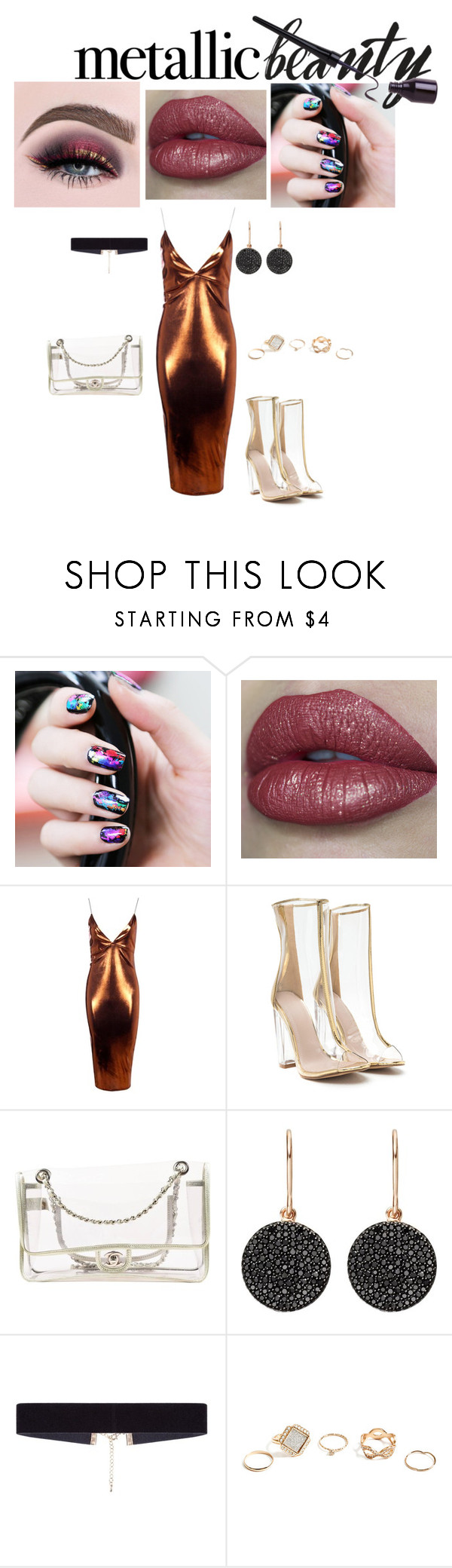 """Untitled #97"" by lawsy89 ❤ liked on Polyvore featuring beauty, Boohoo, Chanel, Astley Clarke, 8 Other Reasons and GUESS"