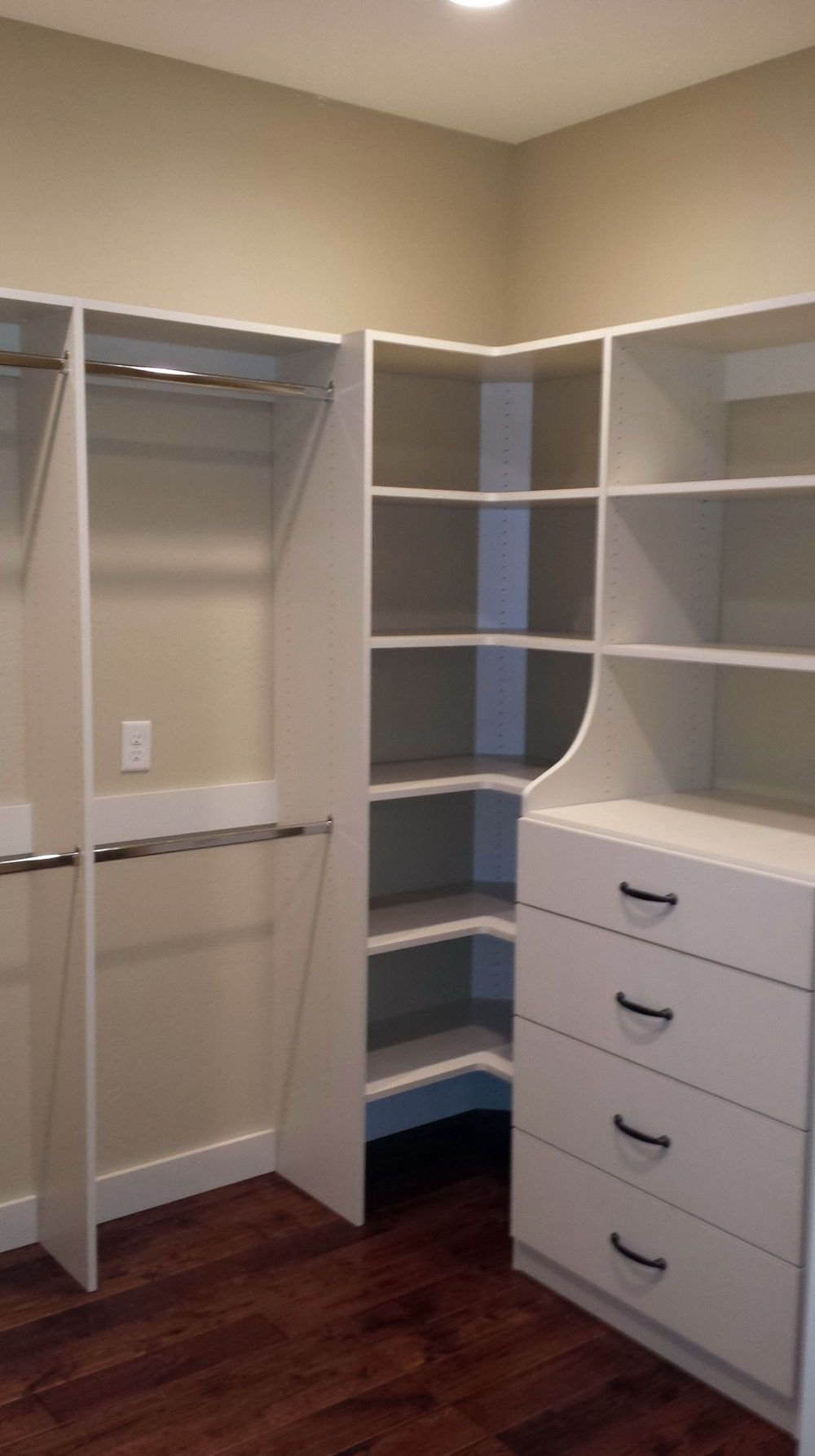 Closet Shelving Units With Drawers