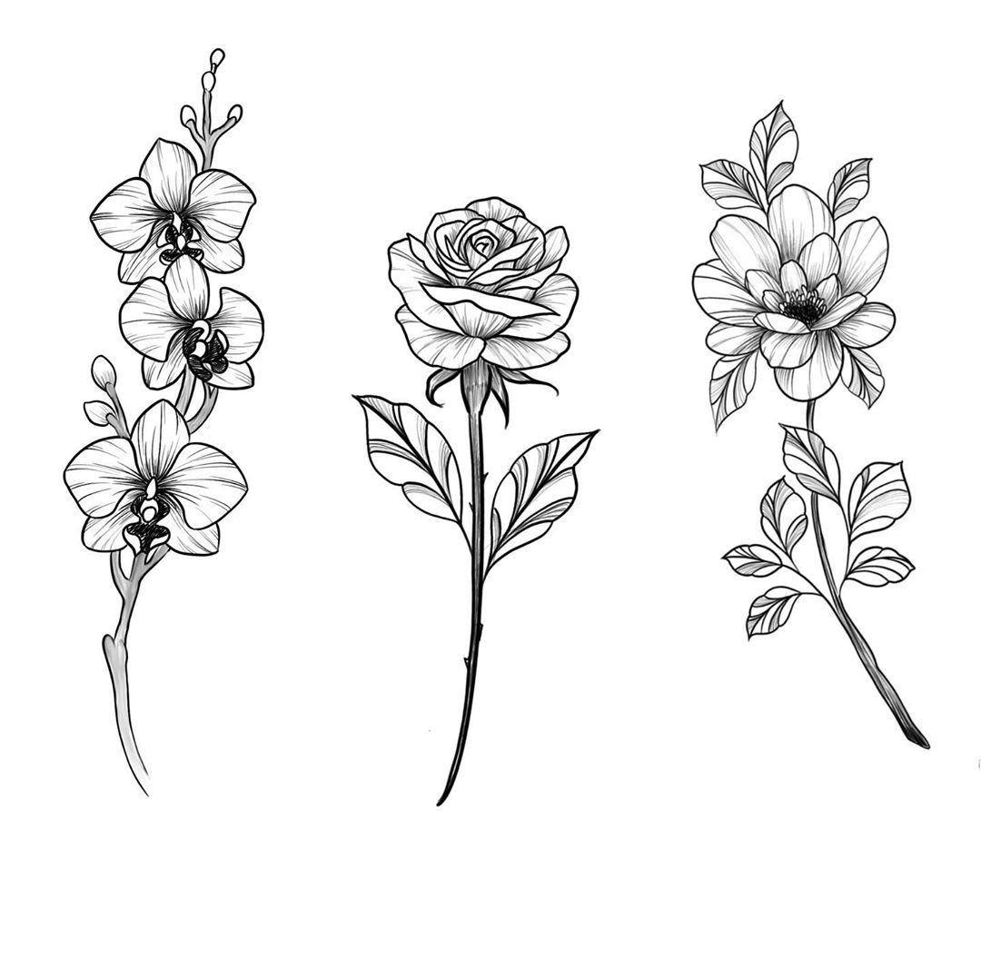 """Hollie on Instagram: """"🥀Available flash- 1, 2 or 3?. . . . . #tats #tat #tattoo #tattoos #tattooideas #blackandgreytattoo #instagram #smalltattoos #flowerstagram…"""""""