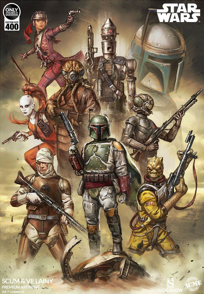 Star Wars Scum And Villainy Art Print By Acme Archives Star Wars Poster Star Wars Painting Star Wars Pictures