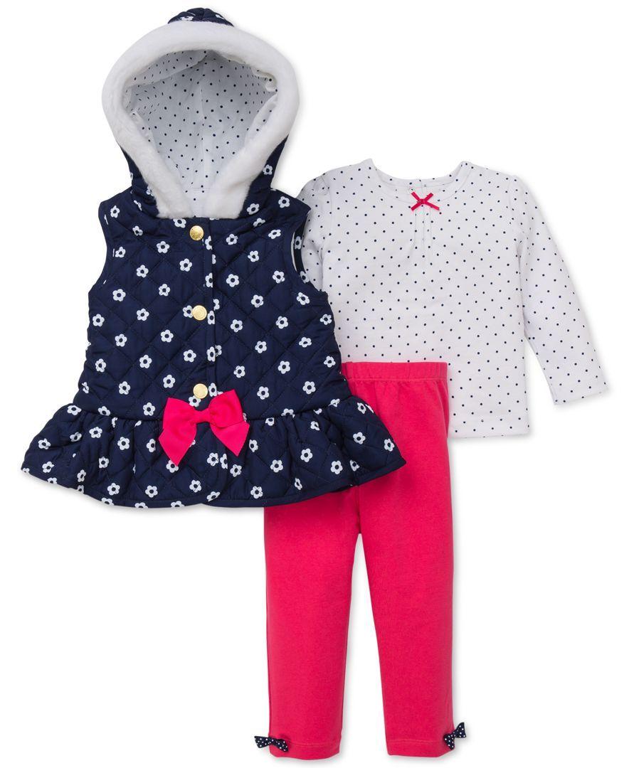 4b91cff78febd Little Me Baby Girls' 3-Piece Shirt, Vest & Pants Set   Products ...
