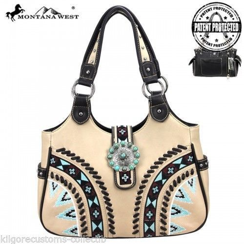 Montana West Concealed Carry Handbag Purse Aztec & Concho Design| The Wanted Wardrobe Boutique