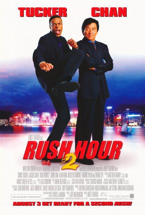 Rush Hour 2 27x40 Movie Poster 2001 Rush Hour Chris Tucker