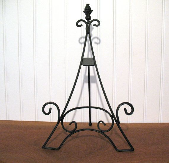 15 Easel Eiffel Tower Large Black Tabletop Wedding Display Picture Frames Photo Frame Plates Sign Table Numbers Chal Chalkboard Stand Tabletop Easel Table Top