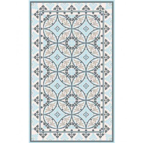 Tapis Vinyle - Barcelona Light Blue White - Beija Flor | Déco