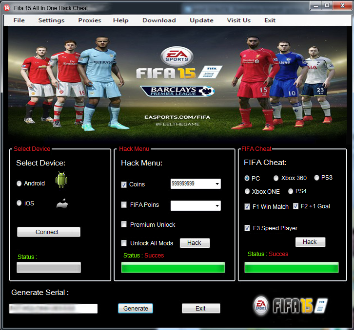 FIFA 15 All In One Hack Cheat (MultiPlatforms Fifa 15
