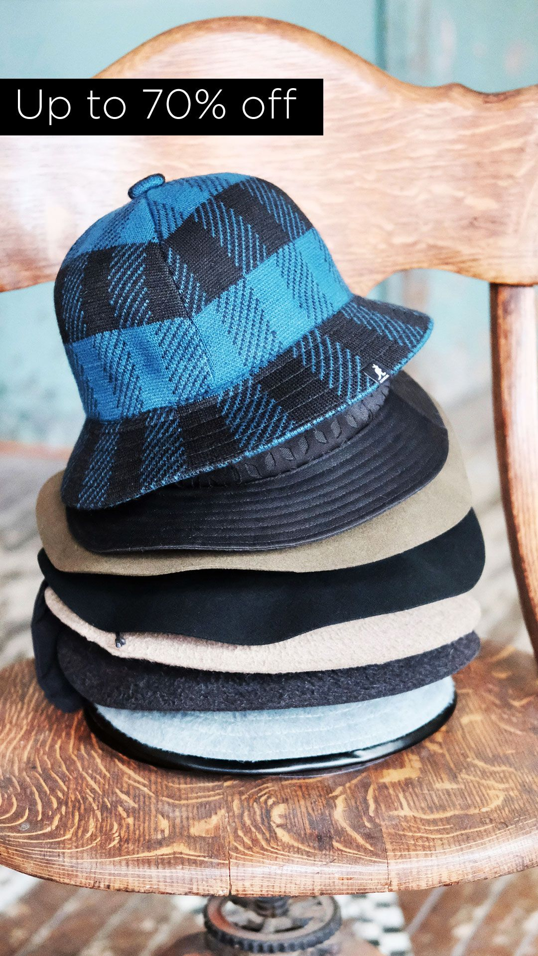 Pictured  Top of the stack - Kangol Frontier Casual and Hole Casual ... cfd52a12b5ef