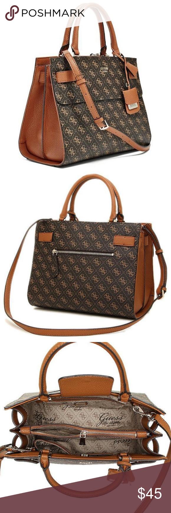 5edfb7c6fa72 Guess 1981 Black Brown Satchel Handbag Brand new Guess 1981 Black Brown  Satchel Handbag