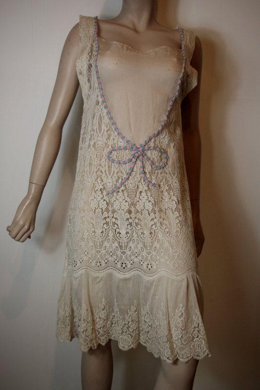1920s cotton lace dress | Dresses, Fashion, Lace dress