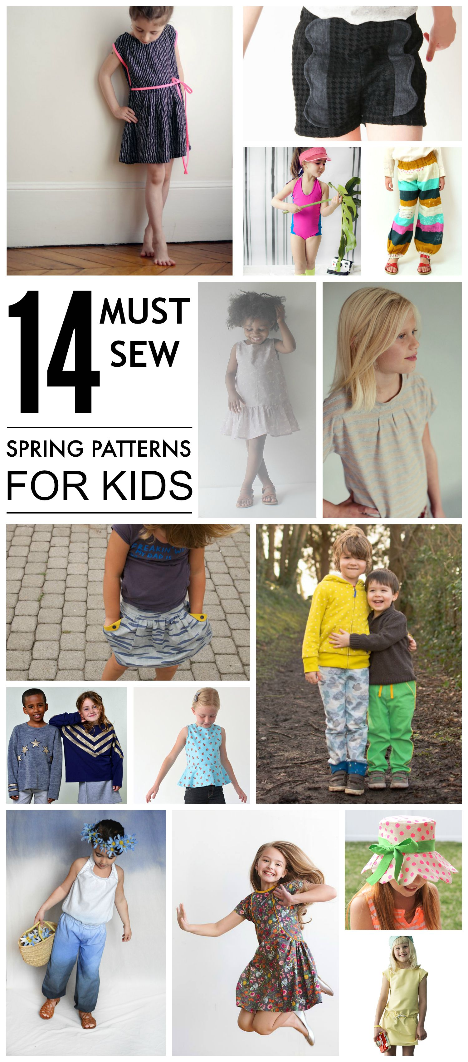 14 must sew spring patterns for kids patterns spring and sewing 14 must sew spring patterns for kids jeuxipadfo Images