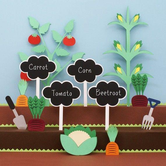 Items Similar To Chalkboard Garden Stakes   Speech Bubbles On Etsy
