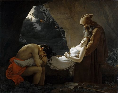 Anne-Louis Girodet de Roussy-Trioson - The Entombment of Atala [c.1808]