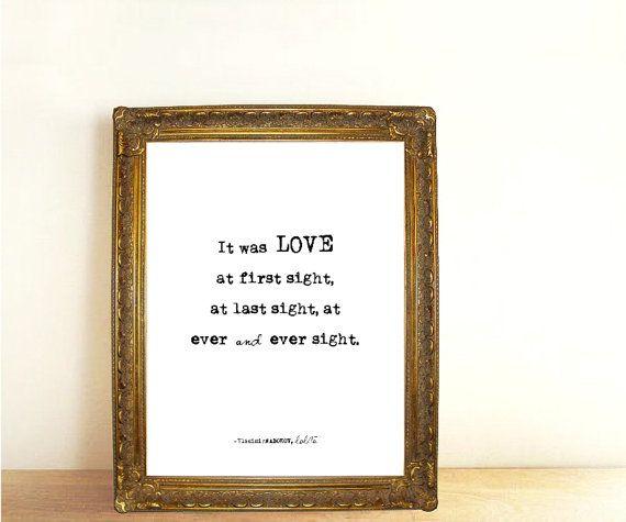 Love Quote Typography Print, Lolita Literary Wall Art