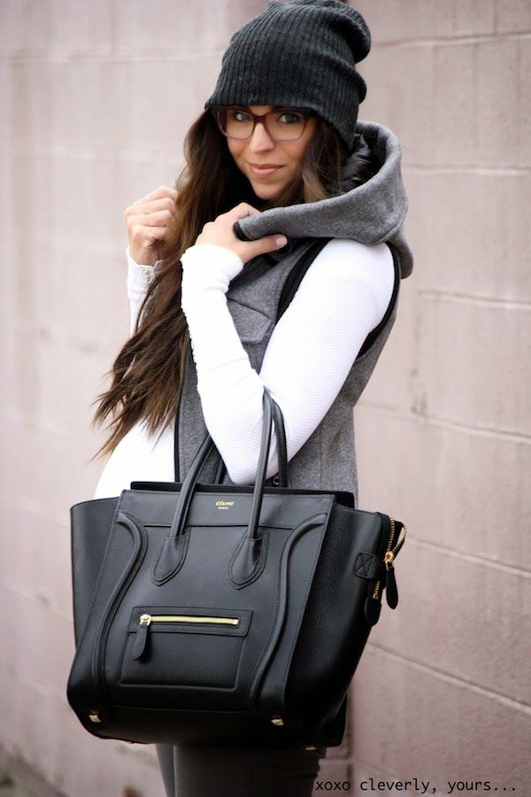 Hooded vest and beanie