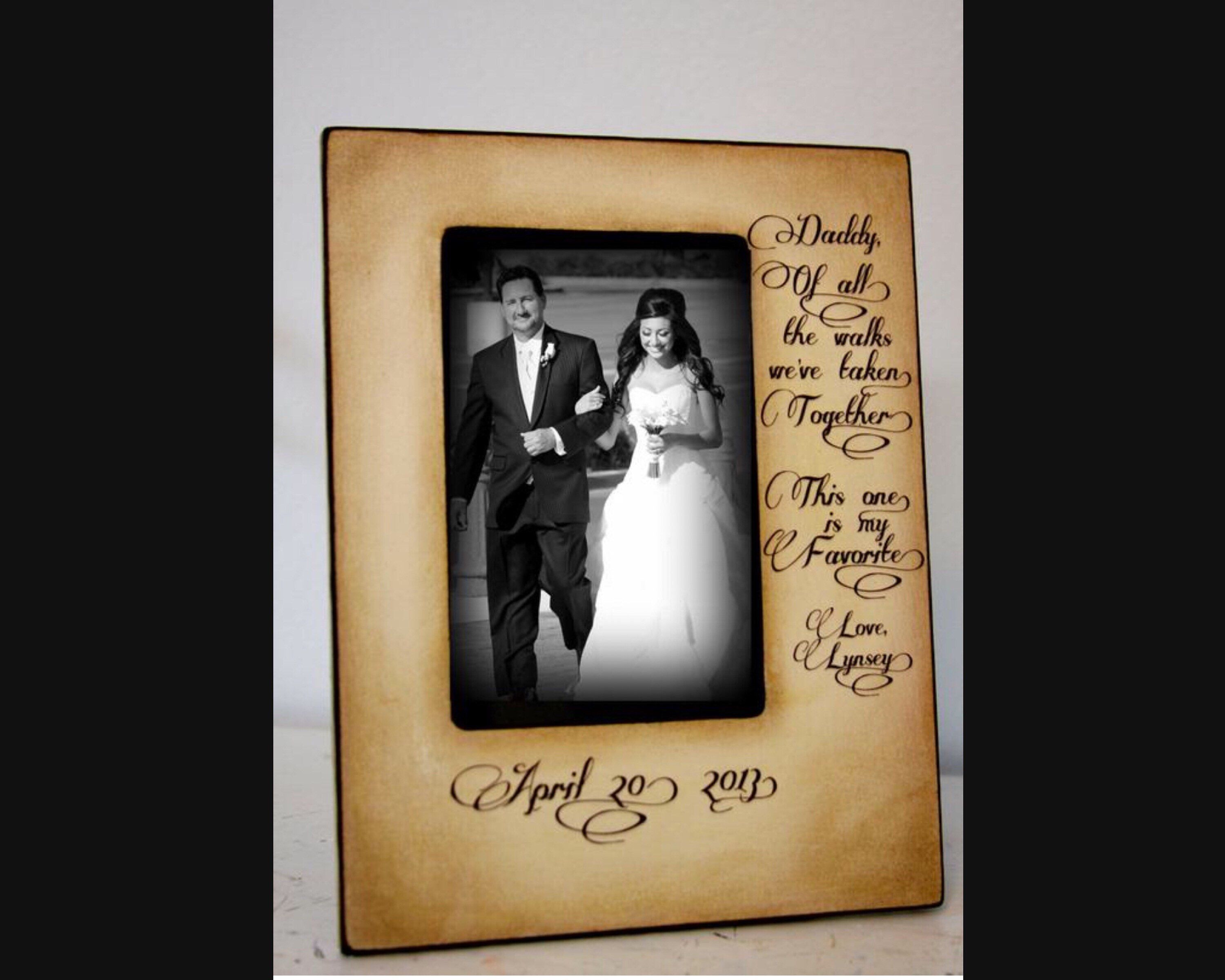 Father Daughter Wedding Frame Bride Walk Down The Aisle Etsy Wedding Frames Personalized Wedding Gifts Dad Wedding Gift