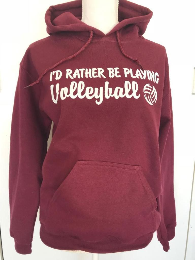 I D Rather Be Playing Volleyball Hooded Sweatshirt Volleyball Sweatshirts Volleyball Outfits Play Volleyball