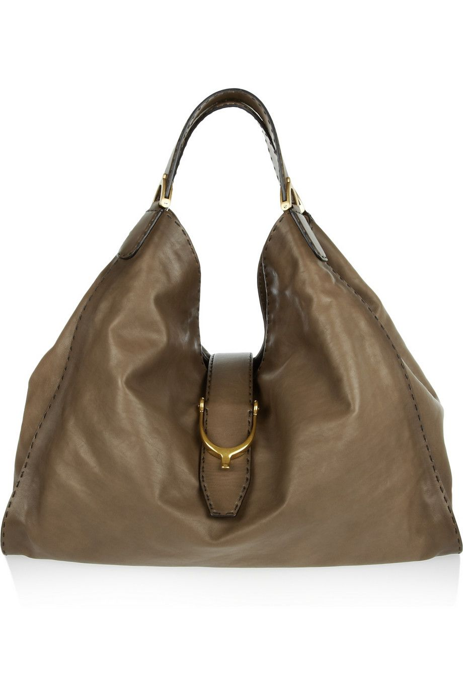 f5177f1f24579c Gucci   Stirrup leather hobo bag   Totes MaGotes   Bags, Gucci ...