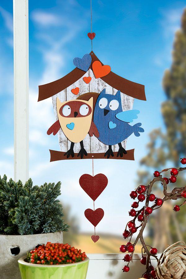 eulen basteln als fensterbild kindergarten owl and. Black Bedroom Furniture Sets. Home Design Ideas