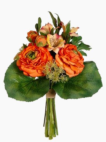 A Silk Flower Depot Blog Celosia Orange Chic Silk Flower Bouquets Bouquet Silk Flowers