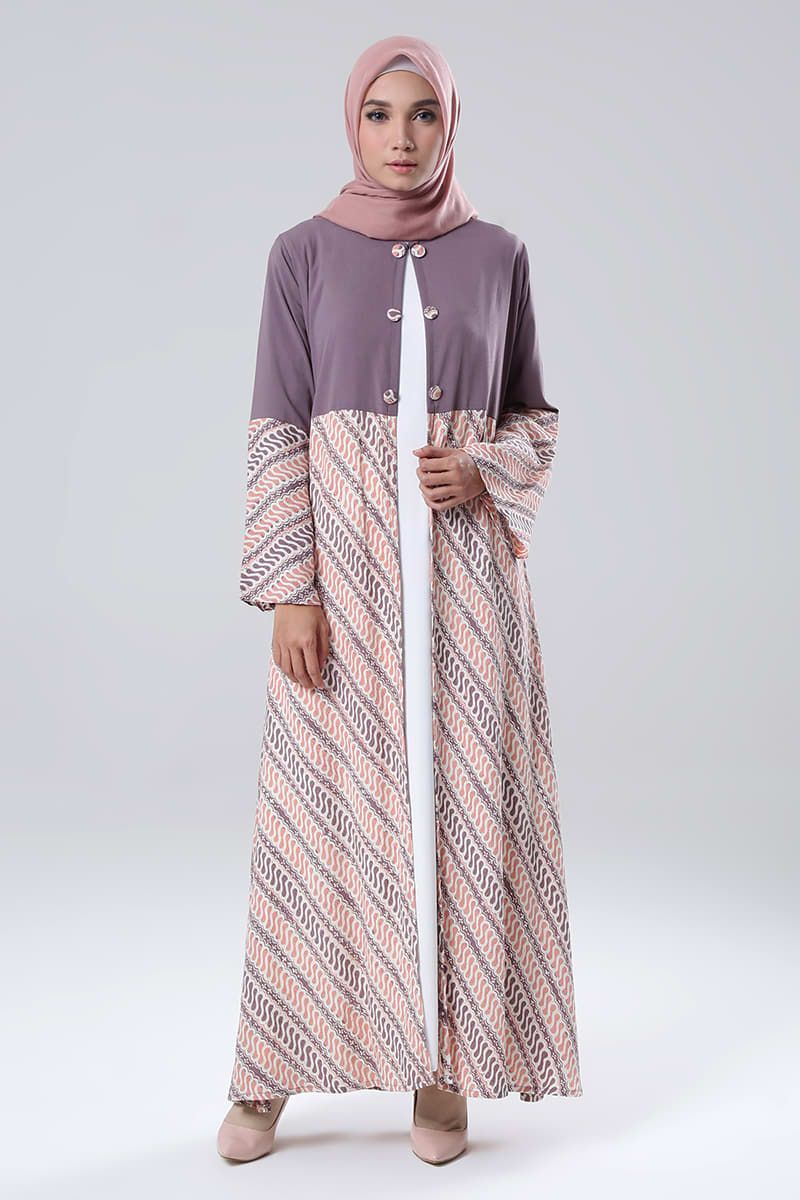 Blazer Dress Alikra MK  Koleksi Long Dress Muslimah Blazer Dress