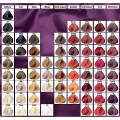 Wella color touch demi colour chart also hair pinterest rh