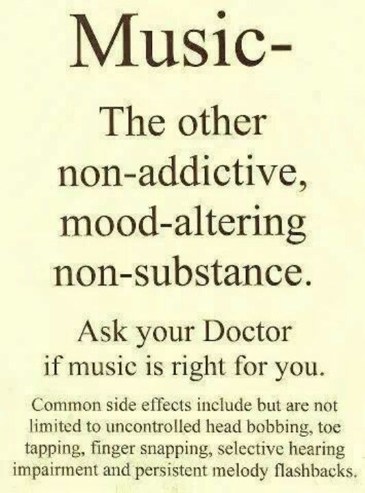 Ask your doctor if music is right for u!