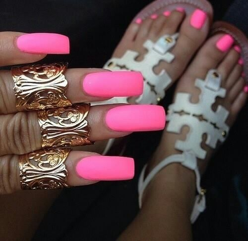 Hot Pink Nails Inspiration