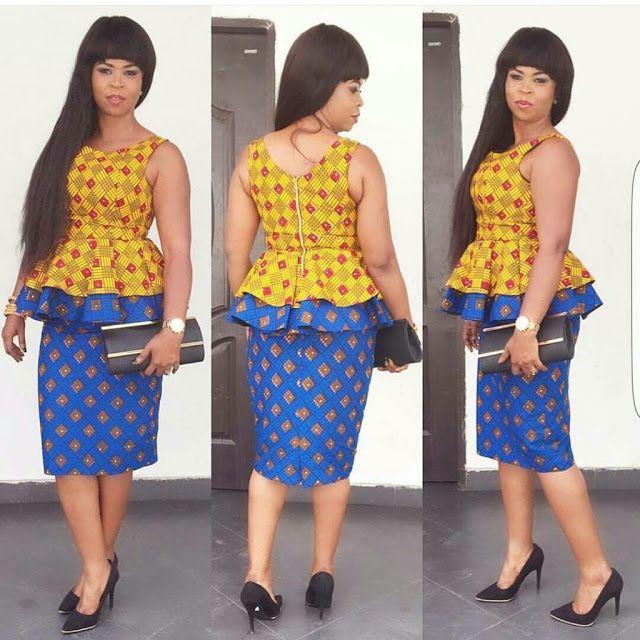 fdb44853688e11 Creative Ankara Aso Ebi Skirt ans Blouse Style - DeZango Fashion Zone