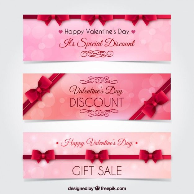 Free Valentines Day Web Banner Templates | Banner template ...