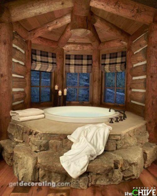 Bathroom ideas Rustic weekend Pinterest Cabin, Log cabins