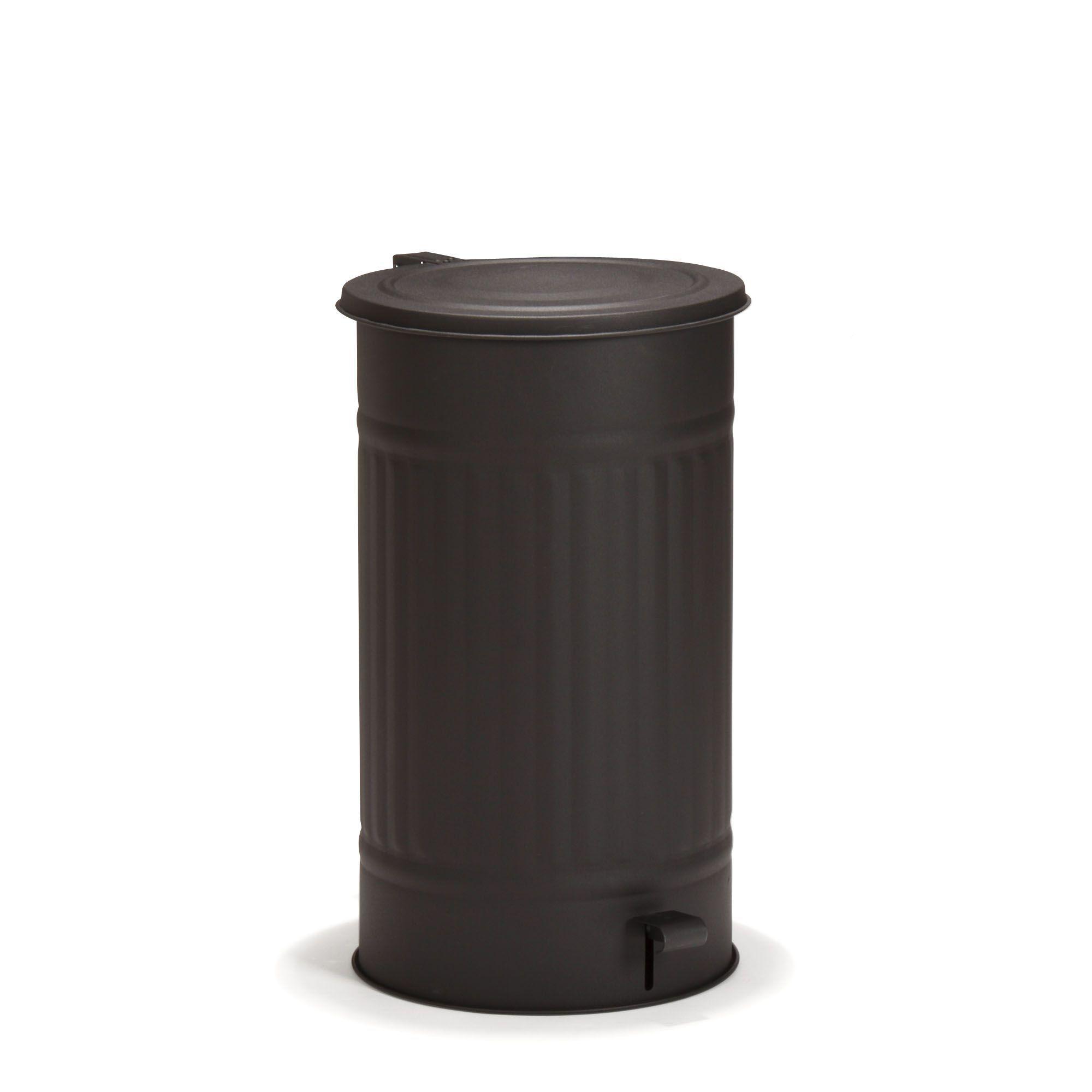 Poubelles Noires De Jardin poubelle à pédale 55l noir mat - max - les poubelles de