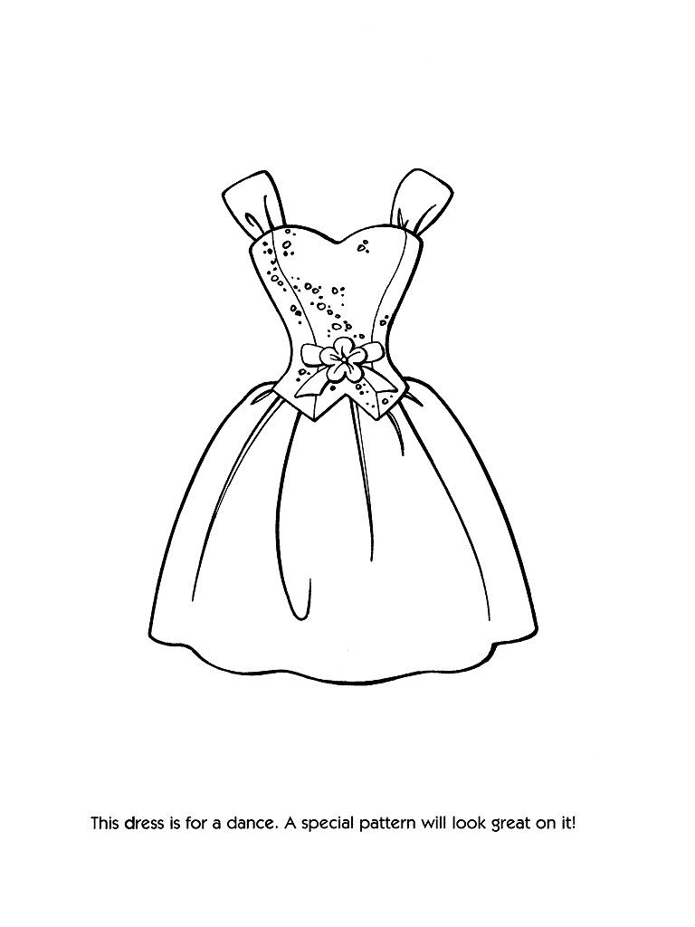 Barbie fashion coloring pages